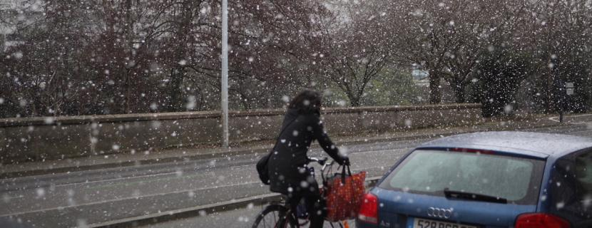 Photo de neige à Rennes